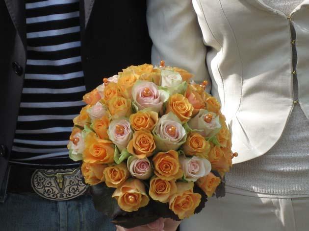 Kugel-Brautstrauß